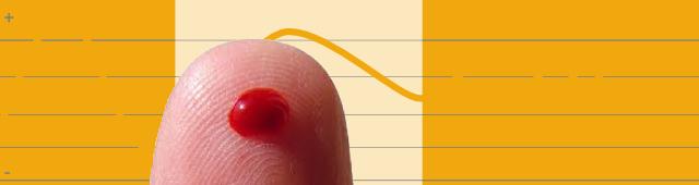 bloedsuikerspiegel vinger bloed afbeelding